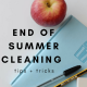 end of summer cleaning tips