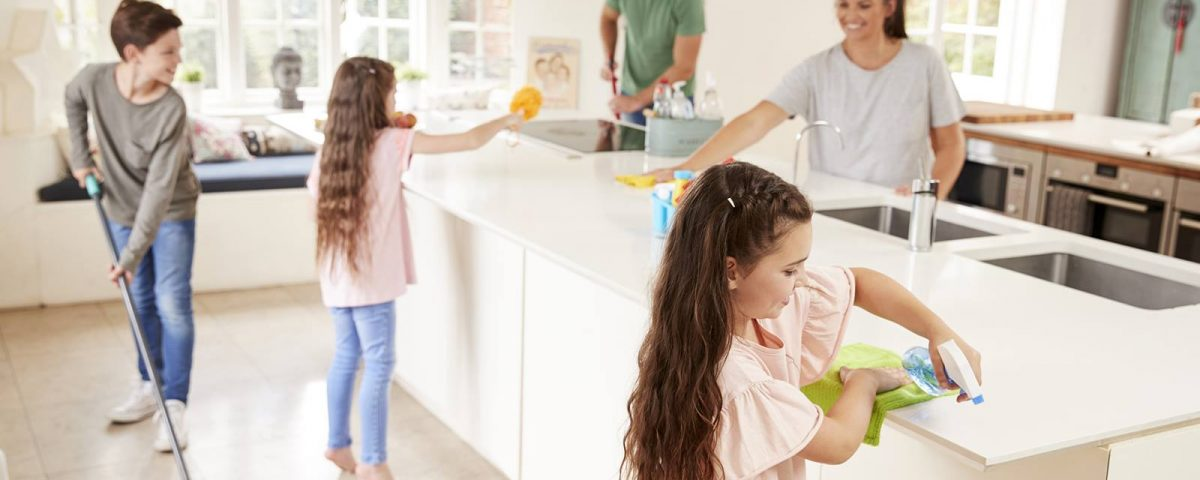 properly cleaning a kitchen