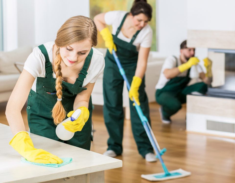 deep cleaning a house